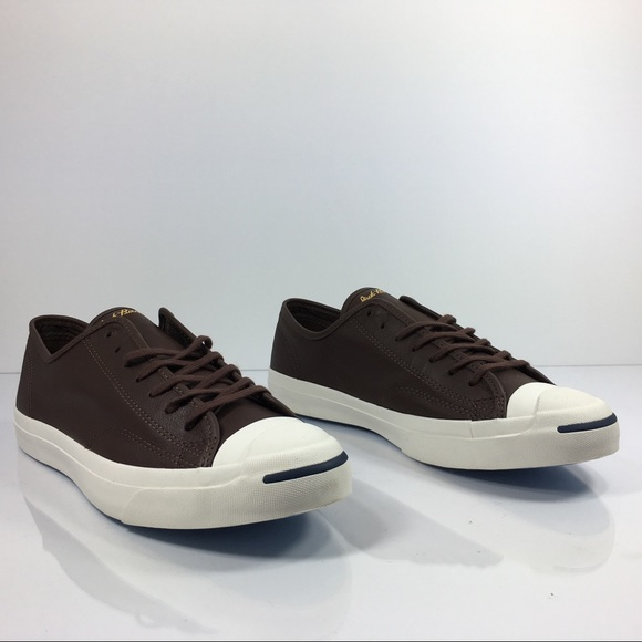 8054e97a8ba9 Converse Jack Purcell Signature OX Brown Leather